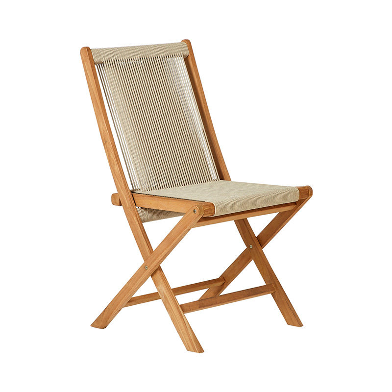 TEAK FOLDING ROPE CHAIR NATURAL