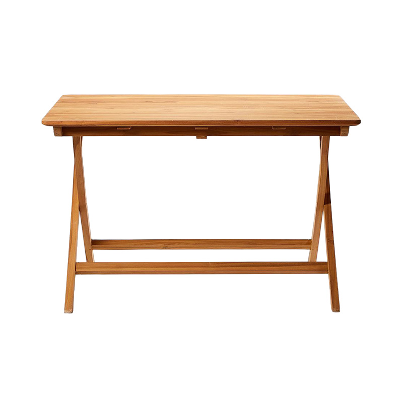 TEAK OUTDOOR FOLDING BISTRO TABLE 120