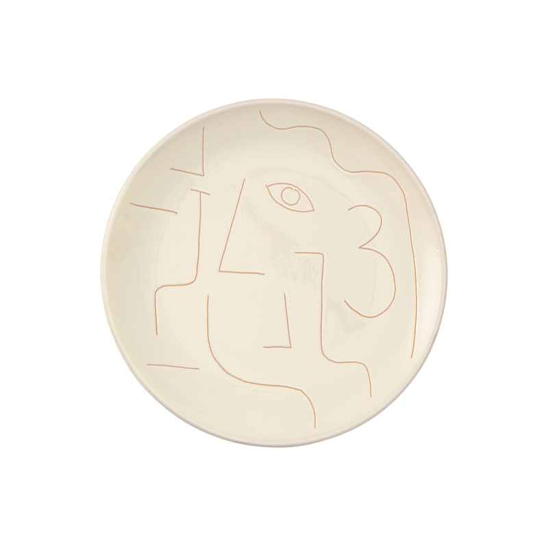 SGRAFFITO HIM SIDE PLATE