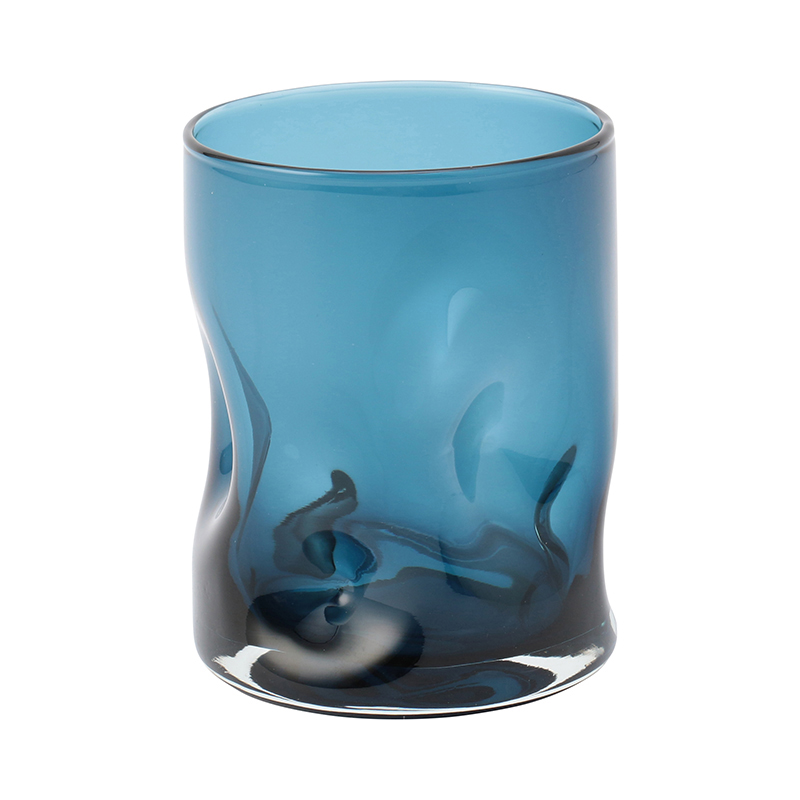 DIMPLED GLASS CHARCOAL BLUE