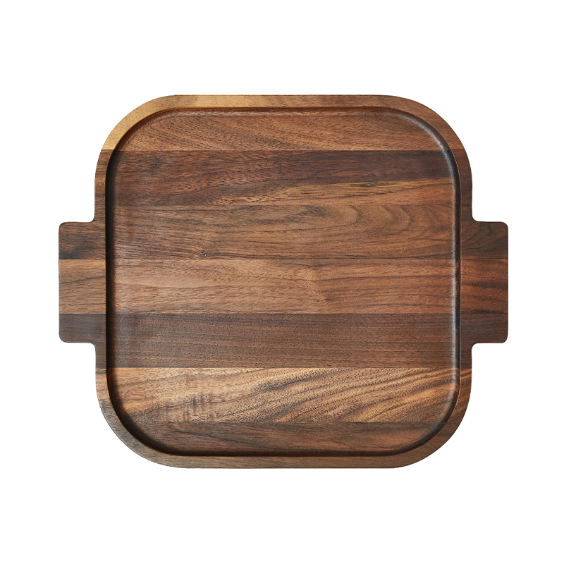 SQUARE TRAY WALNUT 37.4X30.9X2.6