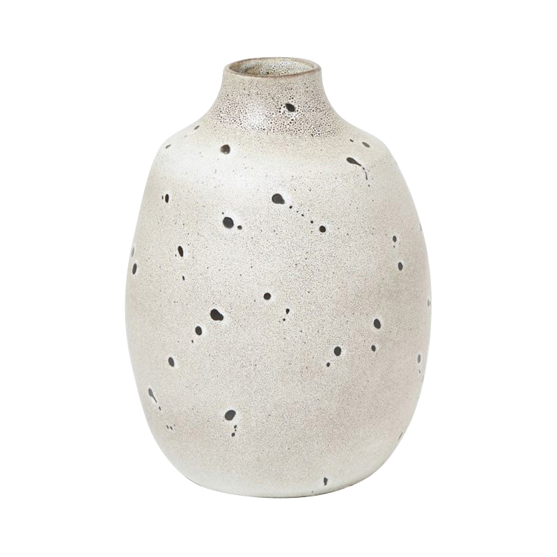 TOKAI VASE IN WHITE SPECKLE