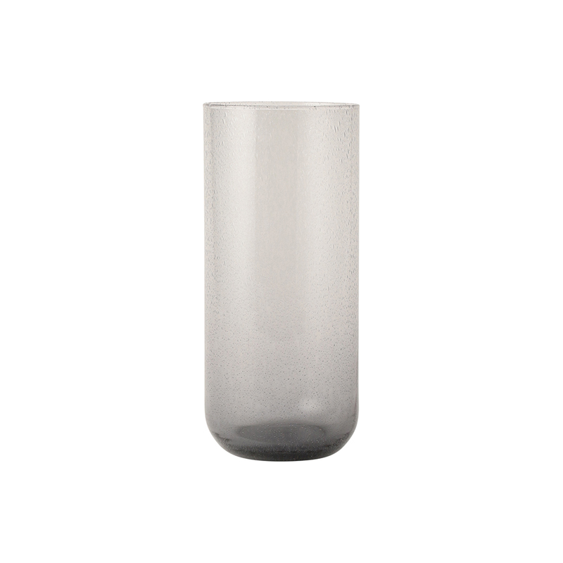BUBBLE GLASS VASE SMOKE 20