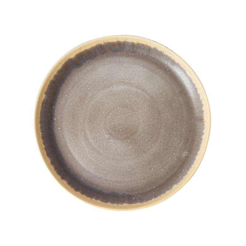 SPECKLE ROUND PLATTER GREY 35.5