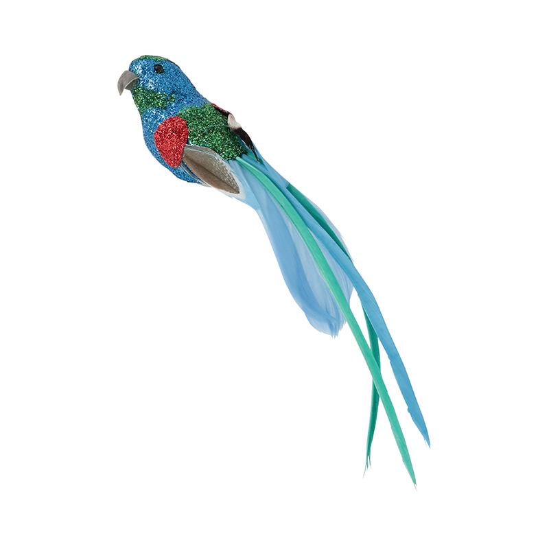 GLITTER FEATHER BIRD_001 BLUE