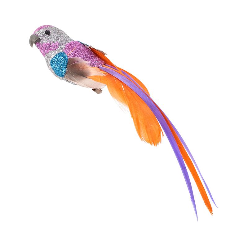 GLITTER FEATHER BIRD_005 PURPLE