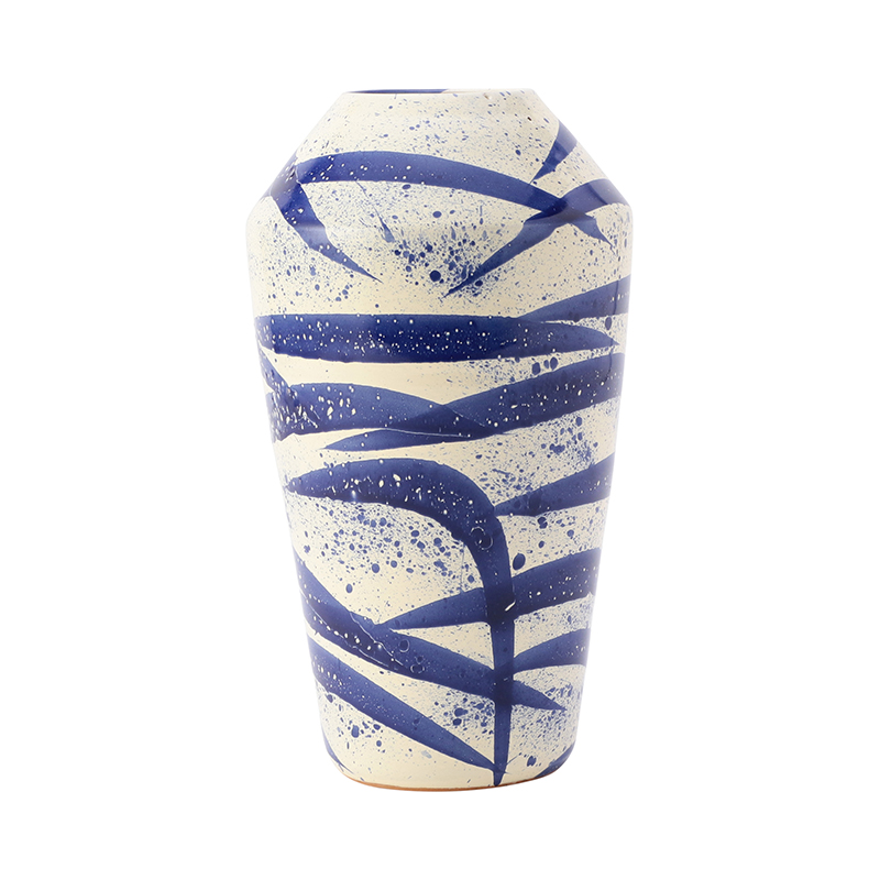 SPLATTER DEEP BLUE VASE