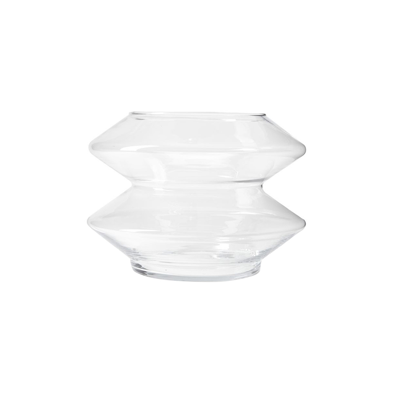BULLE WIDE VASE CLEAR LARGE