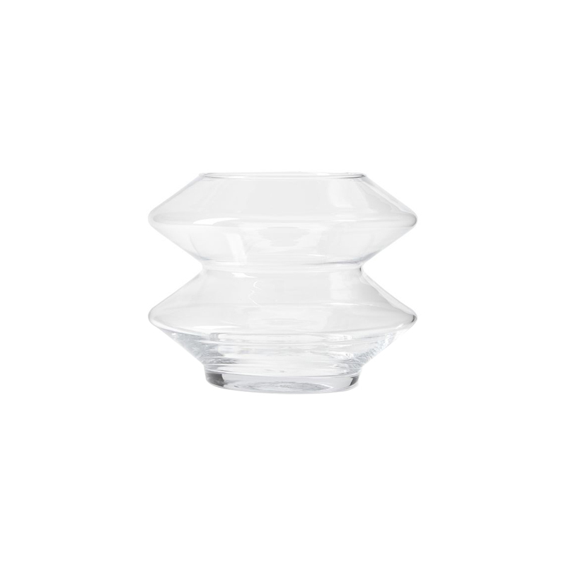 BULLE WIDE VASE CLEAR SMALL