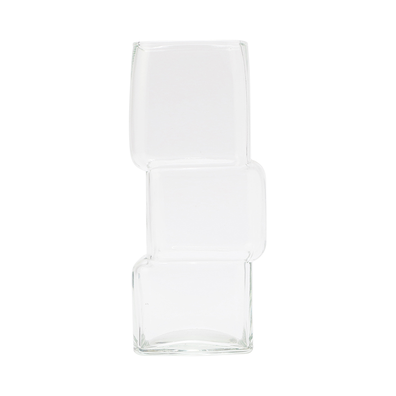 CUBE GLASS VASE SMALL CLEAR