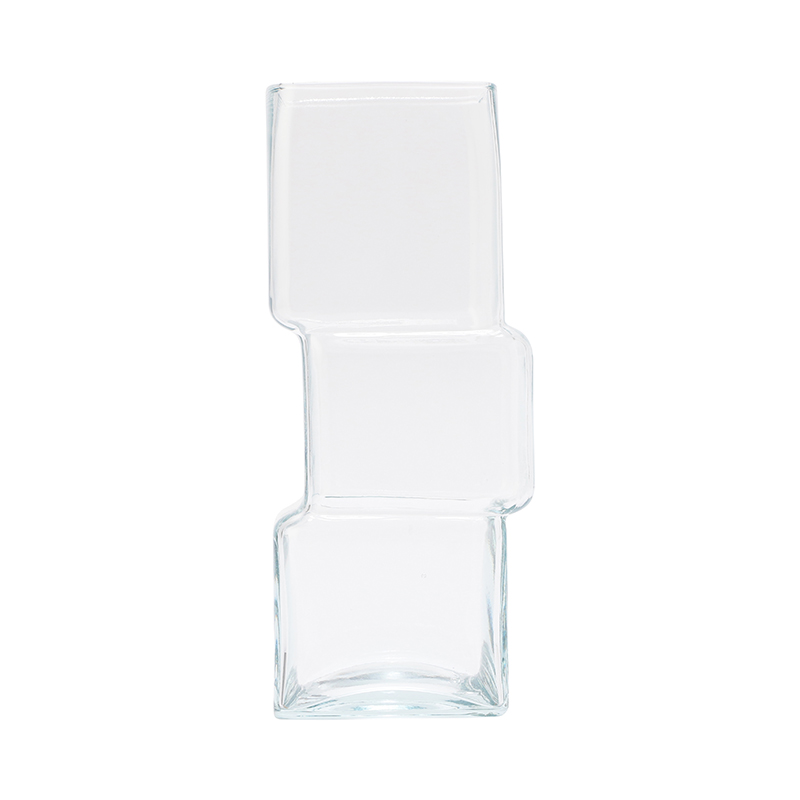CUBE CLEAR VASE LARGE CLEAR