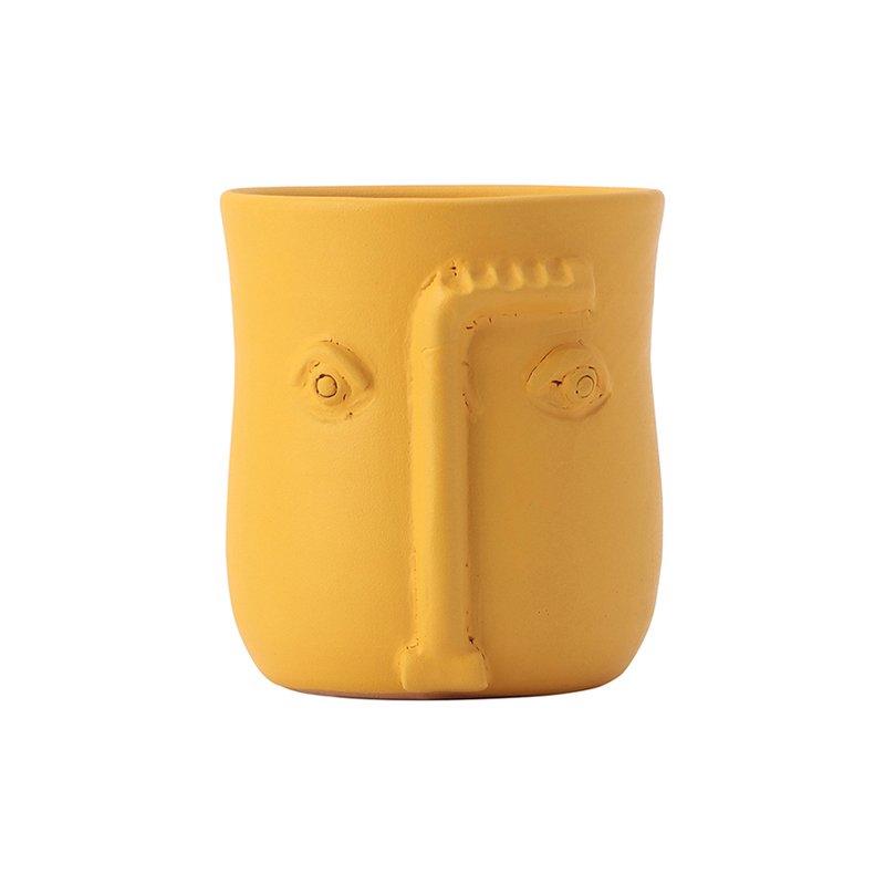 FACE POT YELLOW