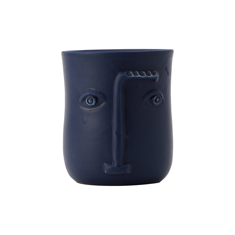 FACE POT BLUE