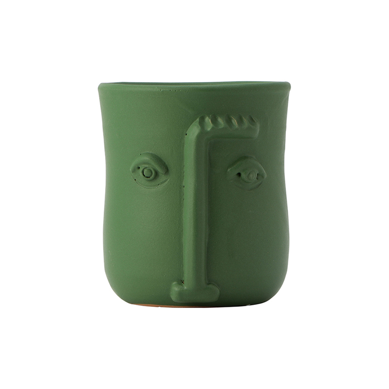 FACE POT GREEN