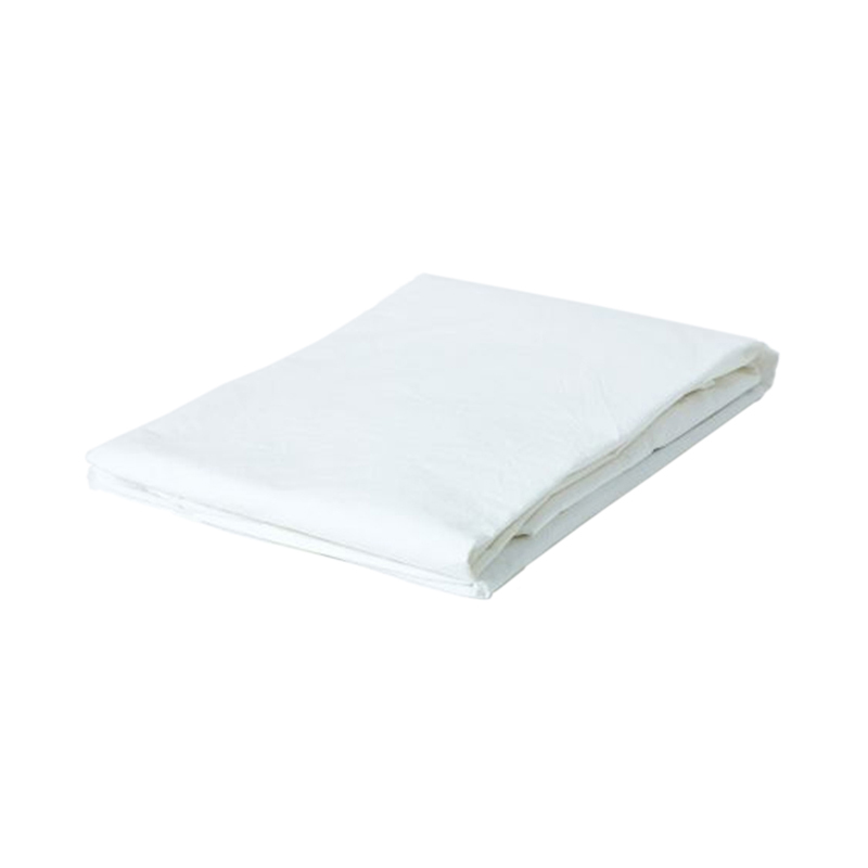 WASHED COTTON FIT SHEET DOUBLE WHITE