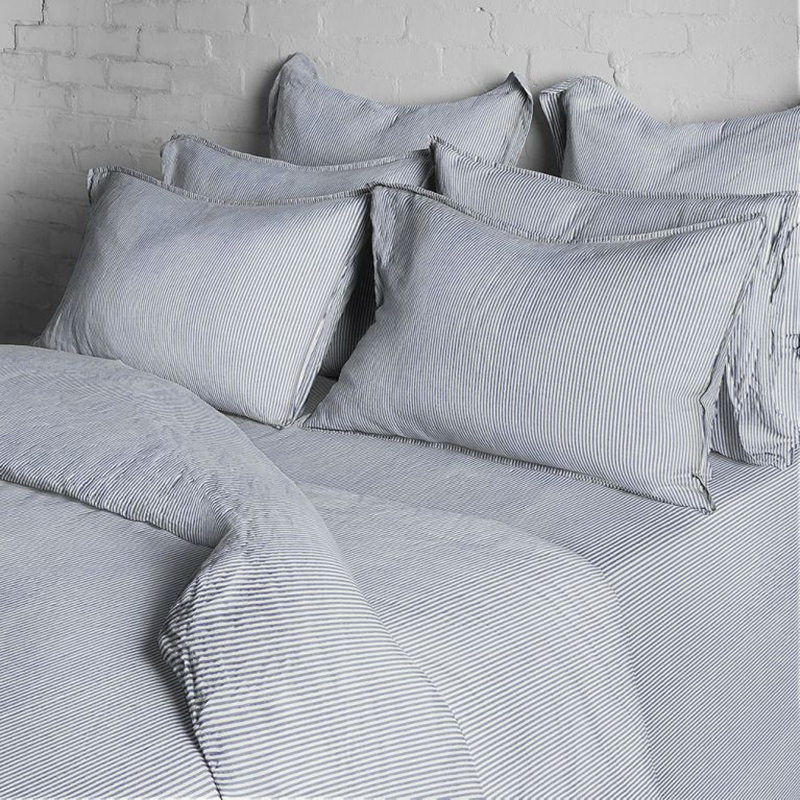 WASHED COTTON DOUBLE DUVET COVER STRIPE
