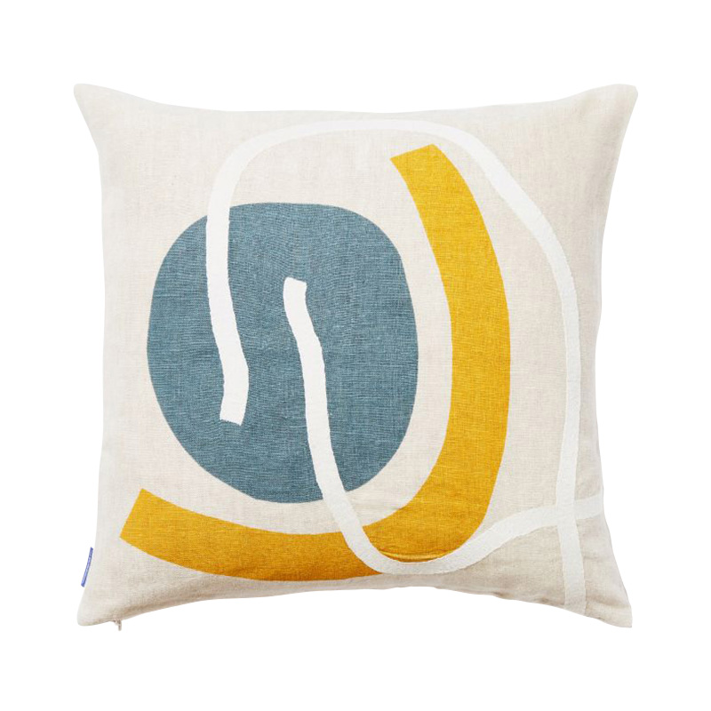 KAITO SHAPES CUSHION COVER 45X45 NATURAL