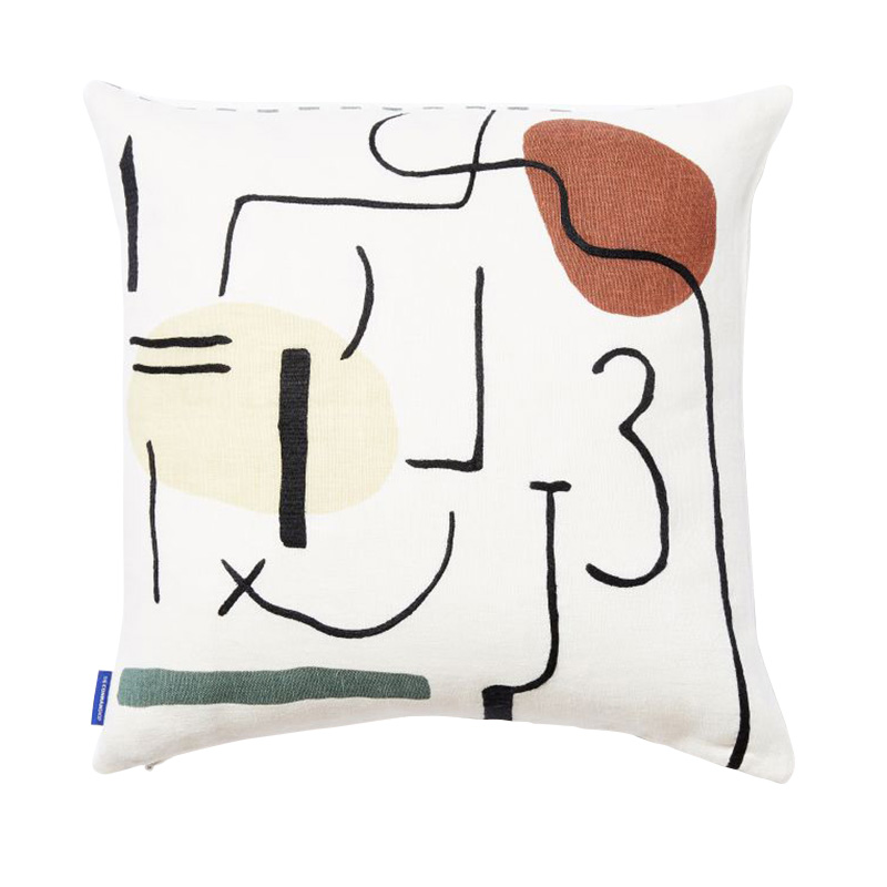 MULTIFACE CUSHION COVER 45X45 WHITE/MULTI