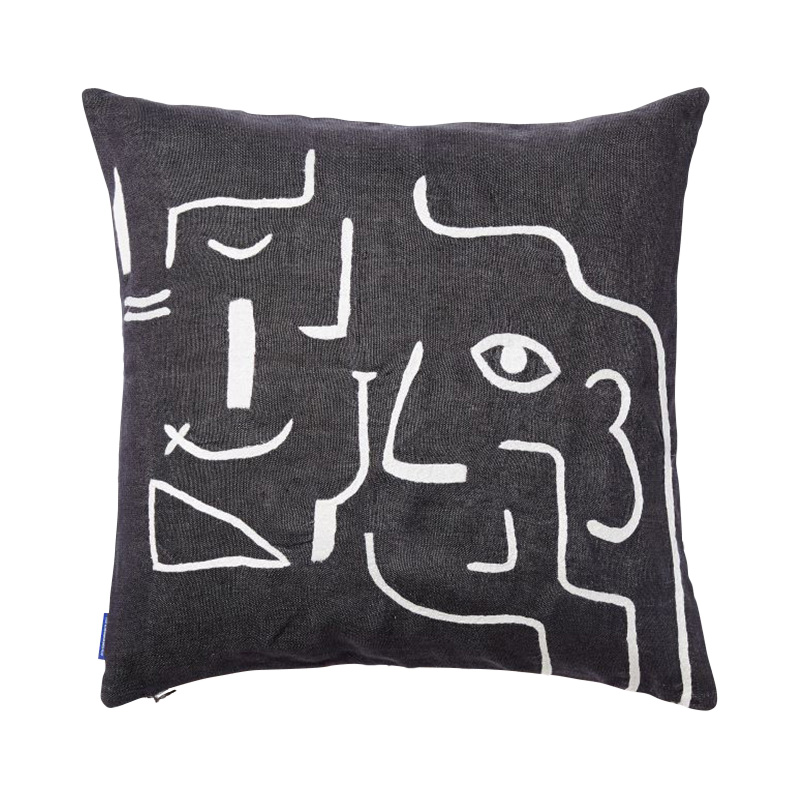 MULTIFACE CUSHION COVER 45X45 BLACK/WHITE