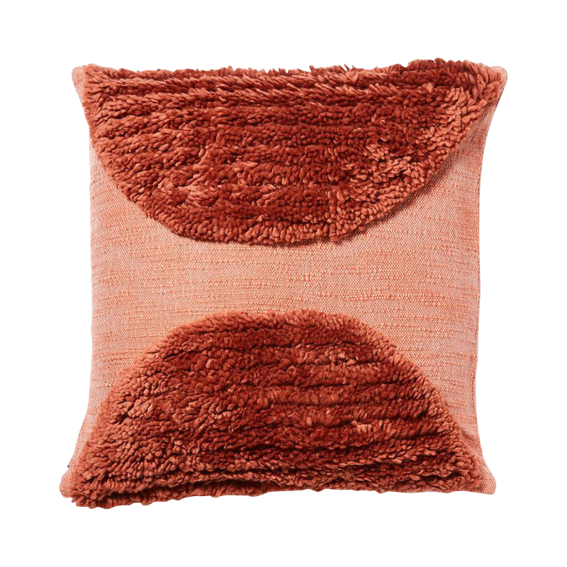 KATACHI SHAPES SEMI-CIRCLE CUSHION COVER 50X50 RED
