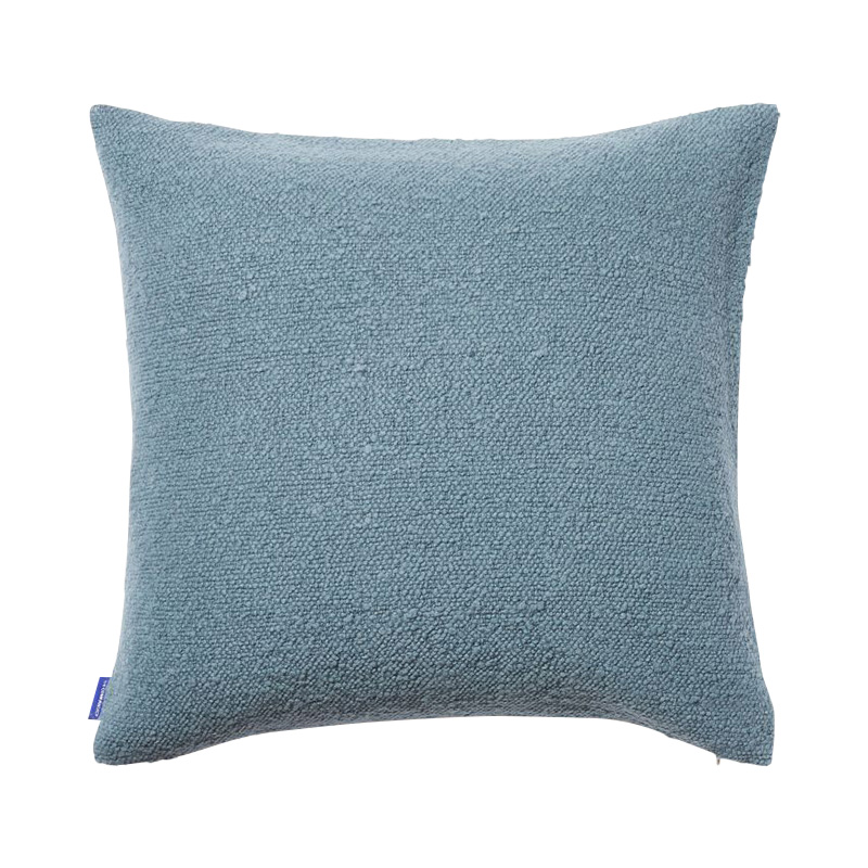 COTTON SLUB CUSHION COVER 50X50 BLUE
