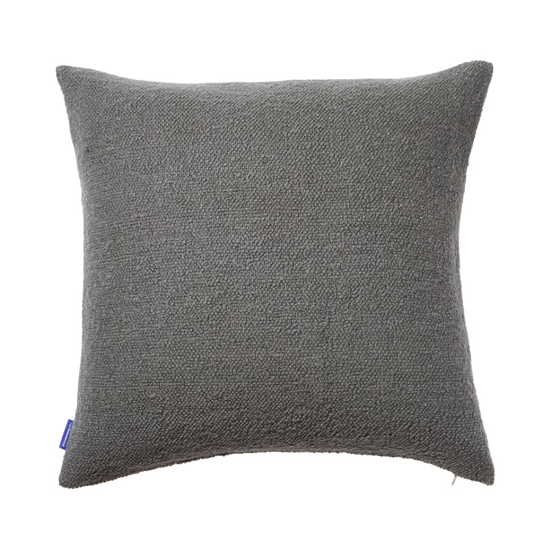 COTTON SLUB CUSHION COVER 50X50 GREY