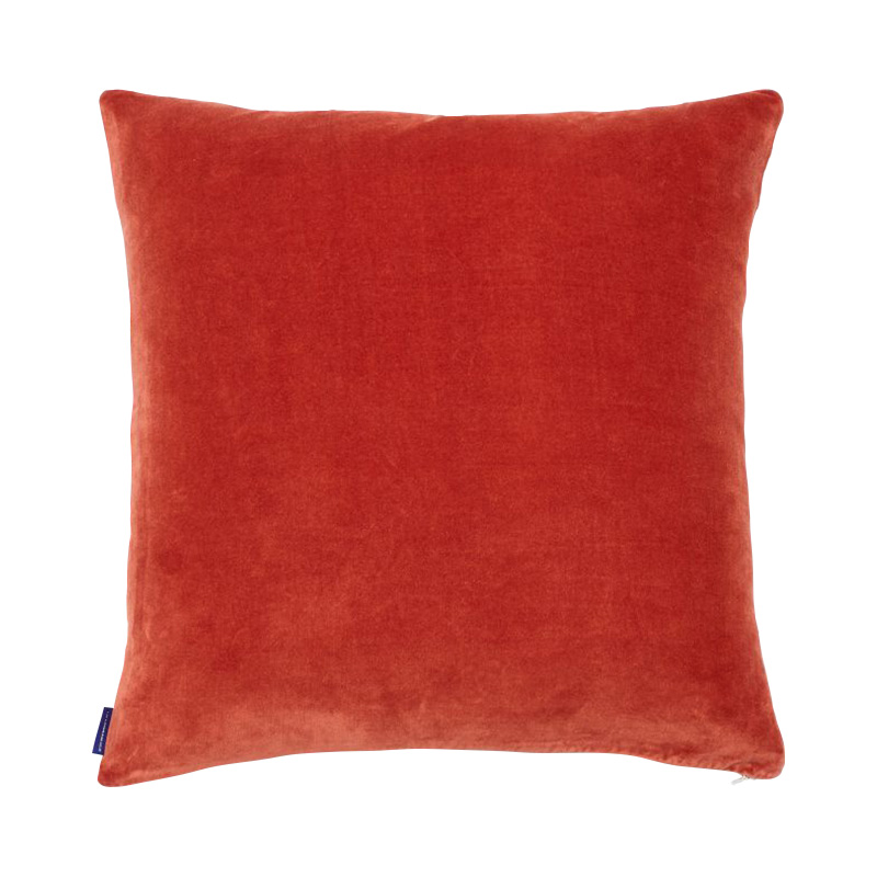 VELVET CUSHION COVER 50X50 PERSIMMON