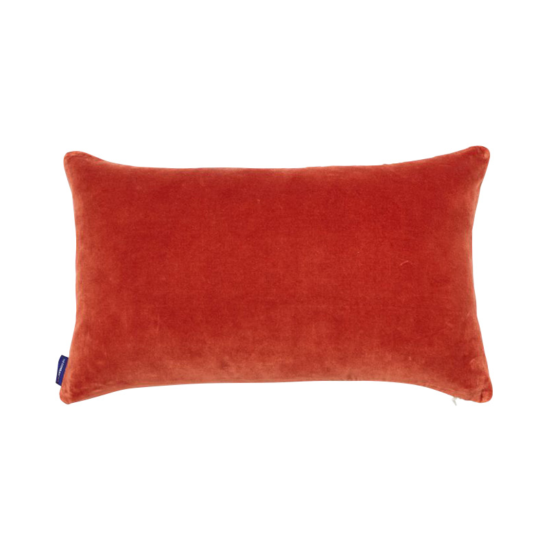 VELVET CUSHION COVER 30X50 PERSIMMON