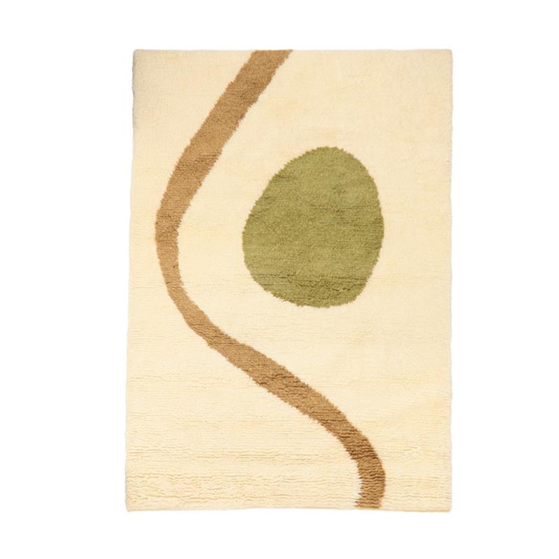 IKIGAI WOOL RUG GREEN/OCHRE 170X240