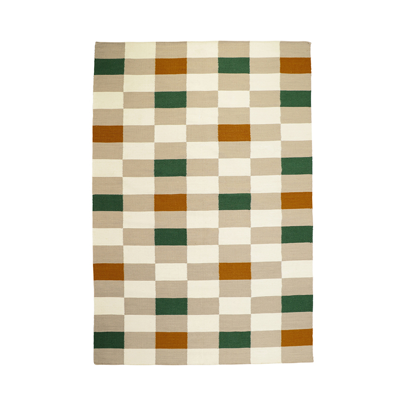 GRID CHECK RUG NATURAL 170X240