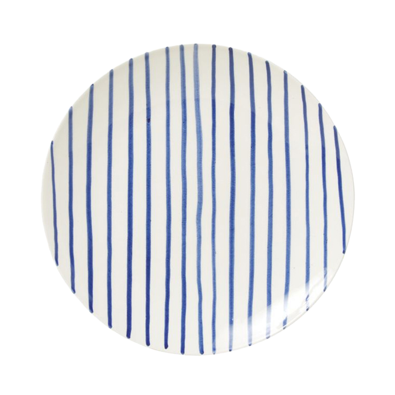 PINTURA STRIPED SIDE PLATE BLUE