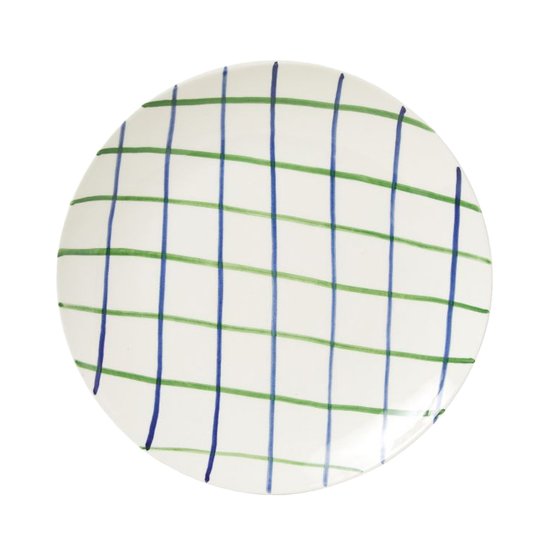 PINTURA CHECKED SIDE PLATE BLUE&GREEN