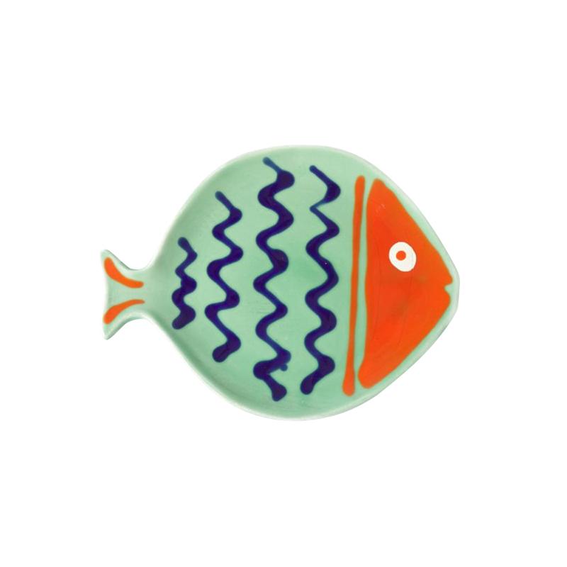 FISH SERVING PLATTER S MISTGR&GRENADINE