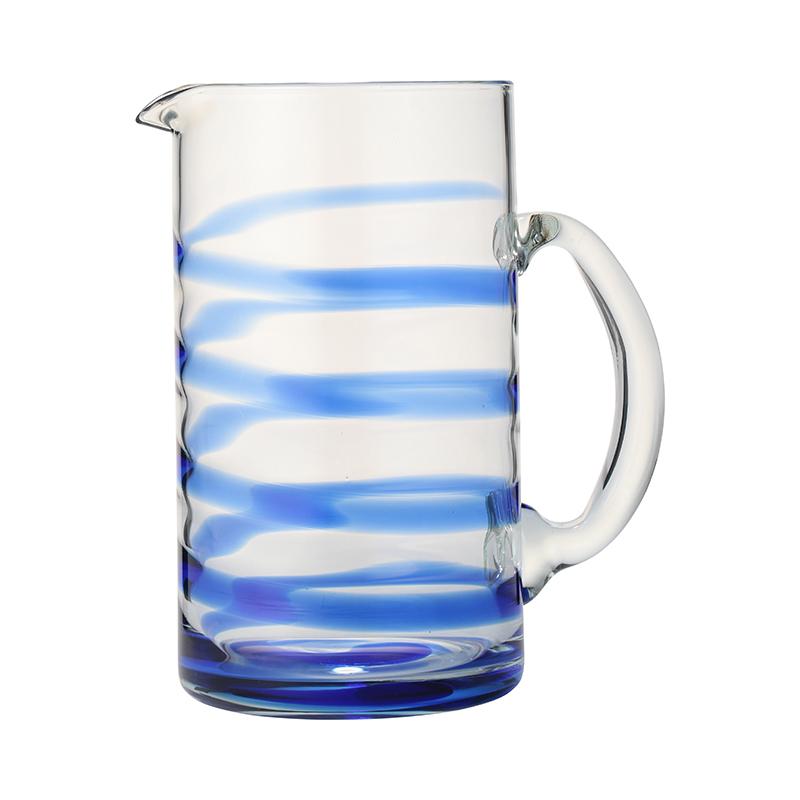 SWIRL JUG BLUE