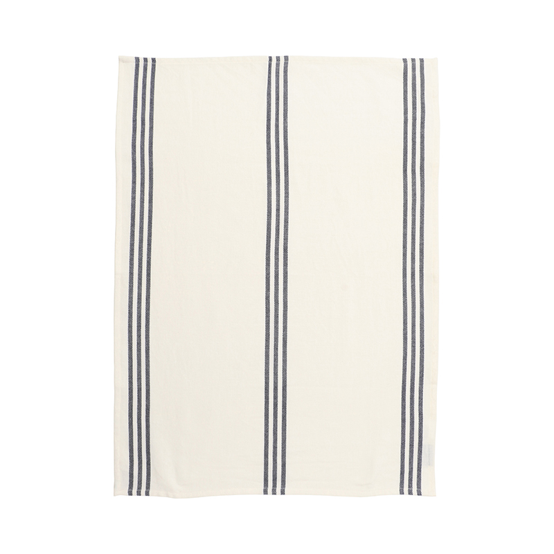 BLUE WOVEN STRIPE TEA TOWEL 50X70