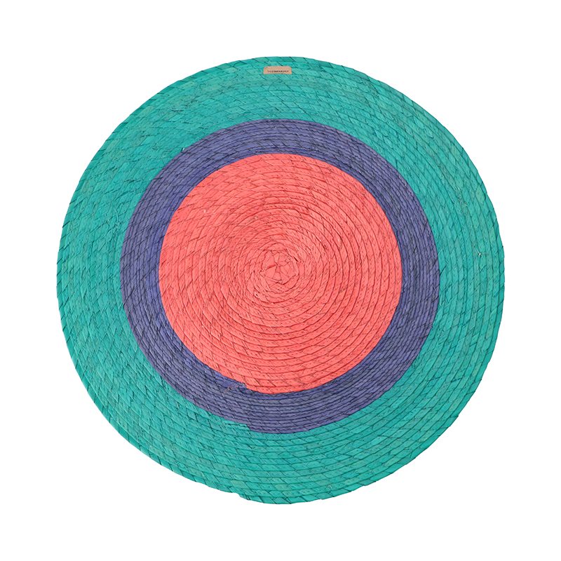 TRIPLE ROUND PLACEMAT MAUI BLUE/CONRAN BLUE/GRENADINE