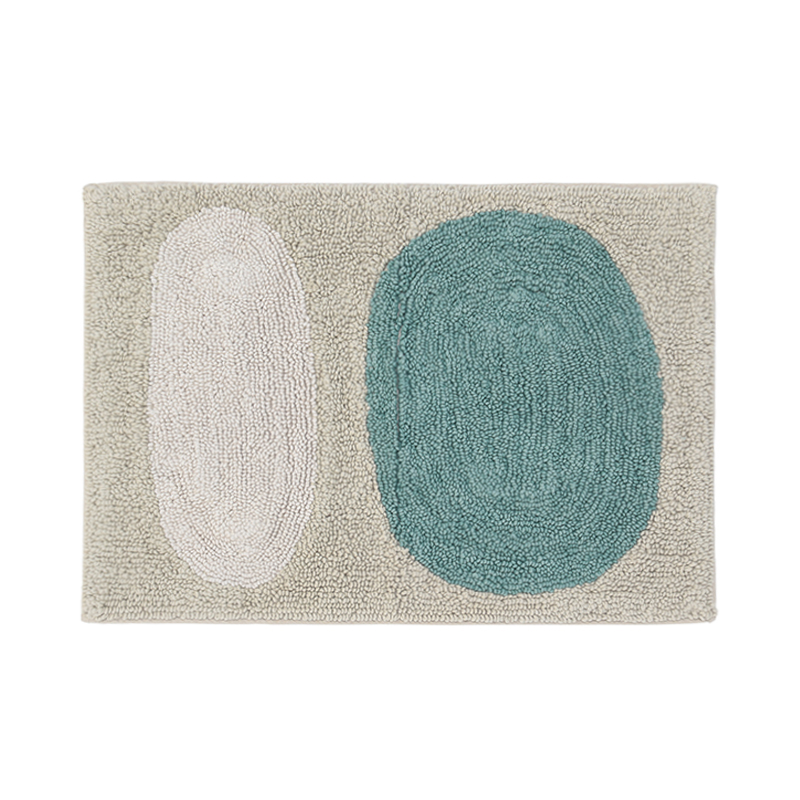 CRESTONE BLUE&WHITE BATH MAT 50X70