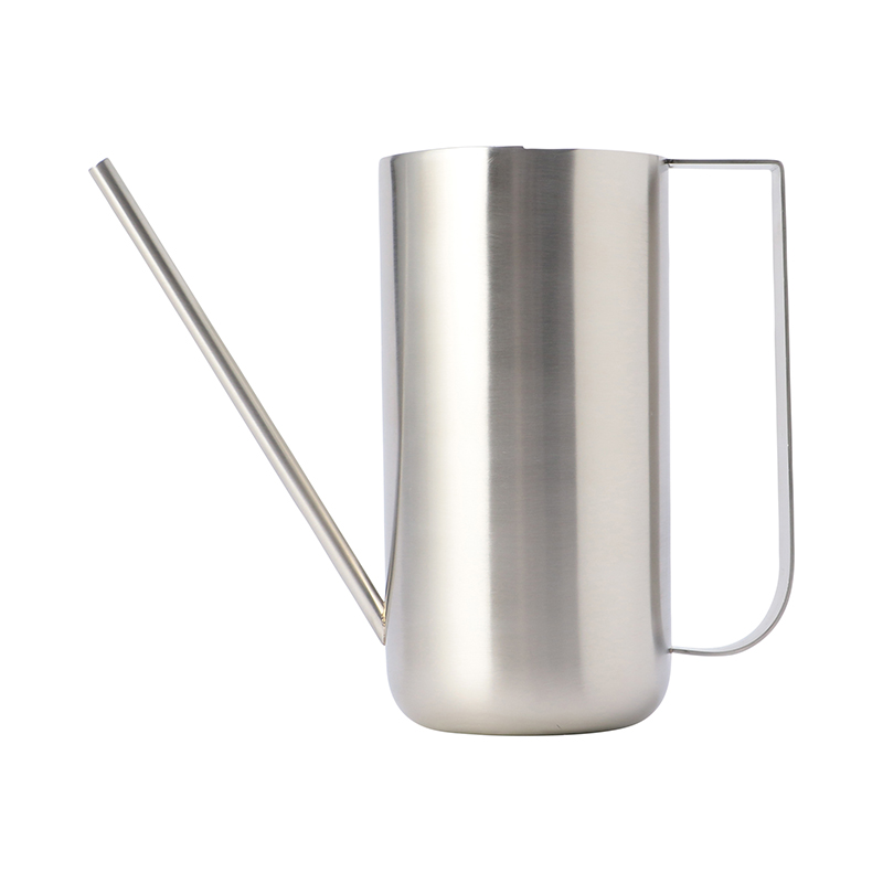 WATERING CAN BRUSHED STEEL
