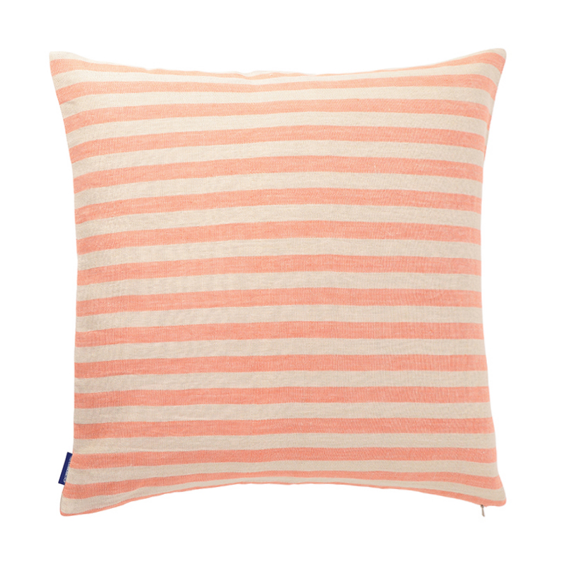 CANDY STRIPE LINEN CUSHION COVER 50X50 FLAMINGO