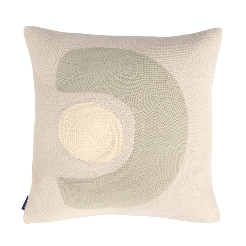 ABSTRACT STITCHED CUSHION  COVER 45X45 TIDAL FOAM