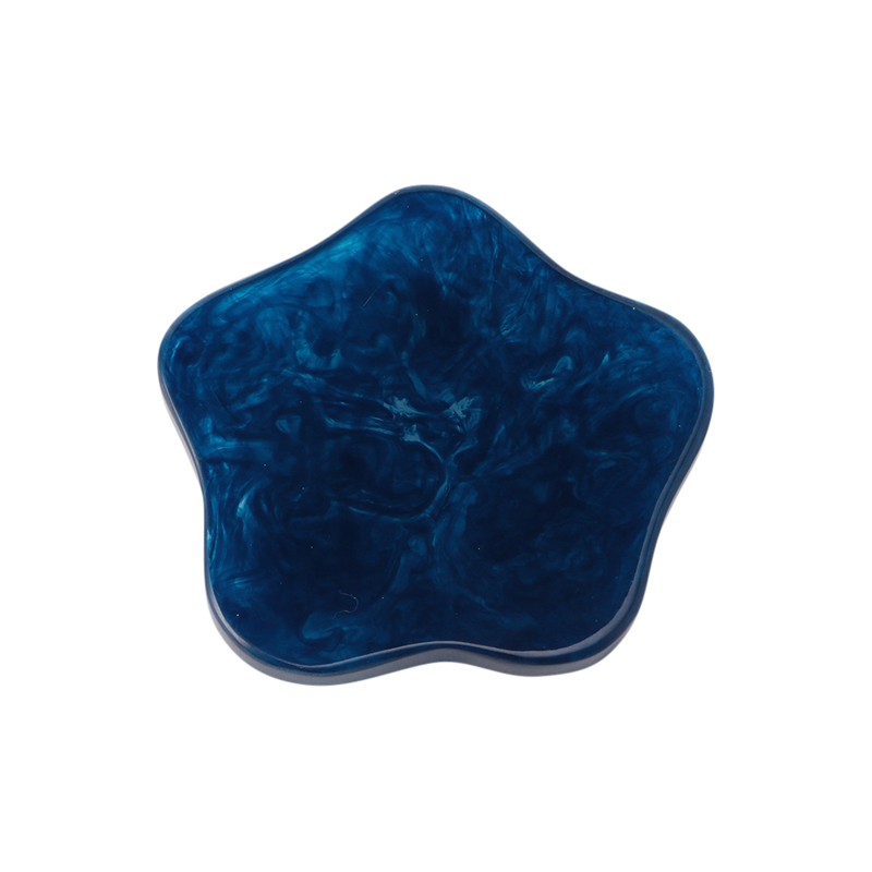 MARMORCAST COASTER NAVY BLUE GLOSS