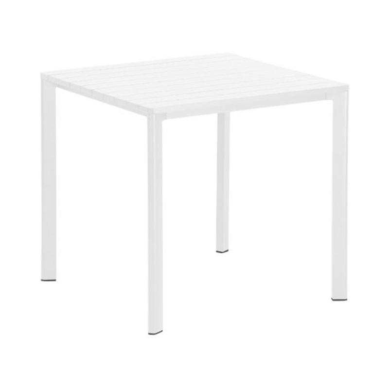 HIGHLINE SQUARE TABLE WHITE 79X79