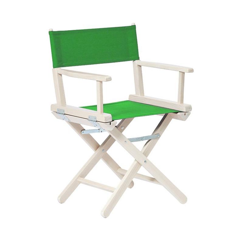 EMERALD GREEN DIRECTORS CHAIR WHITENED BEECH