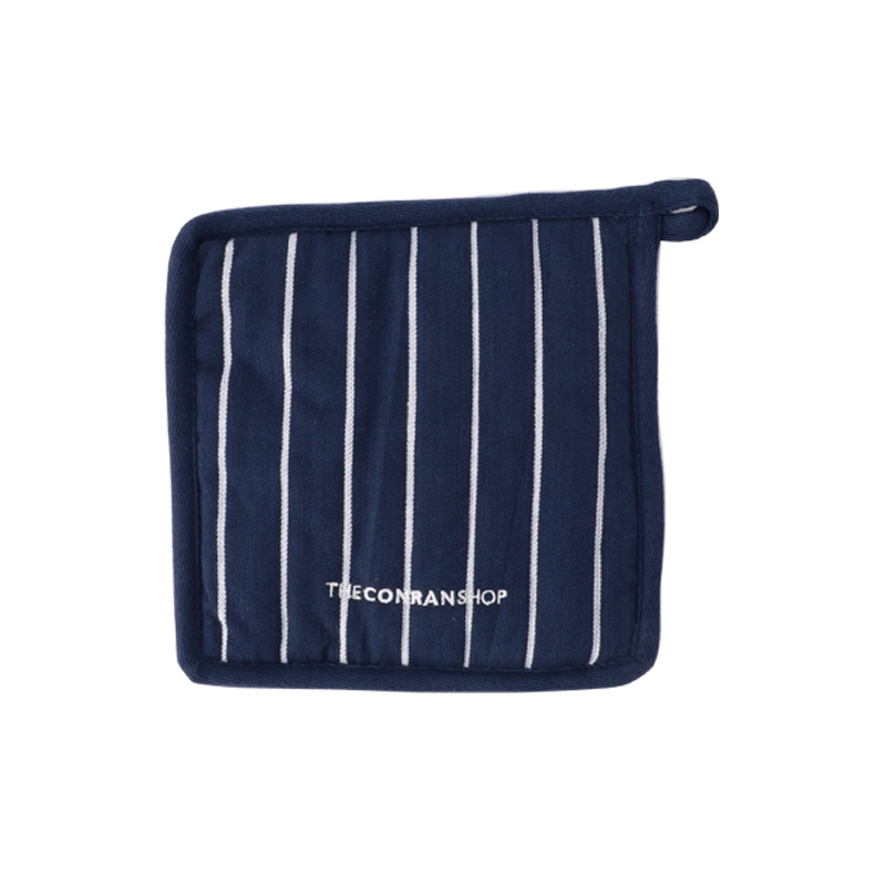 BUTCHER STRIPE POT HOLDER 20X20 NAVY