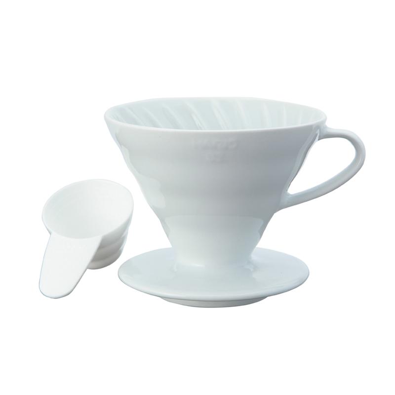 HARIO V60 CERAMIC COFFEE DRIPPER WHITE