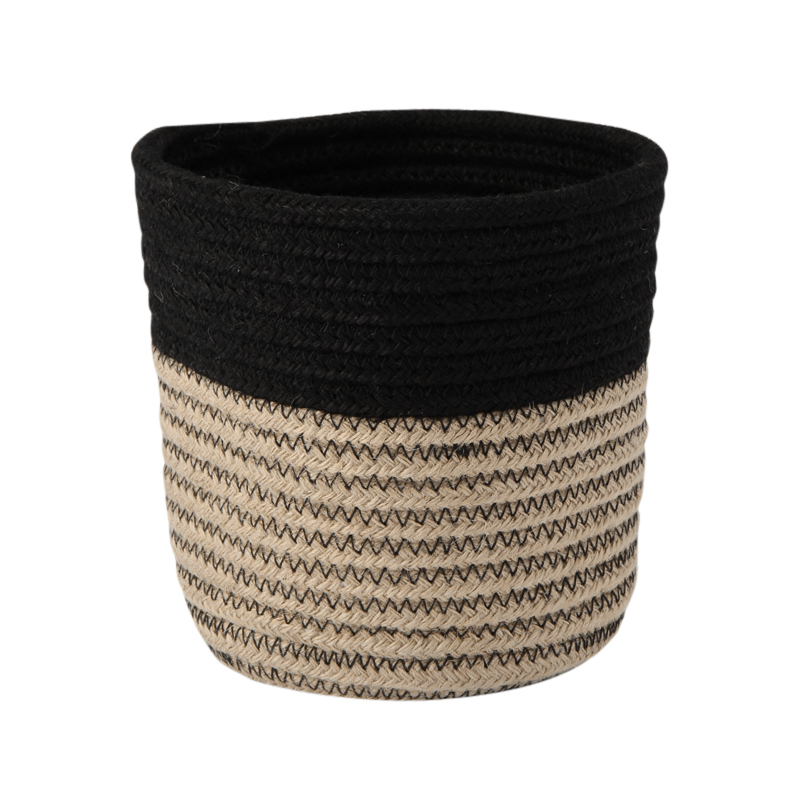 RIB BASKET NATURAL / BLACK S