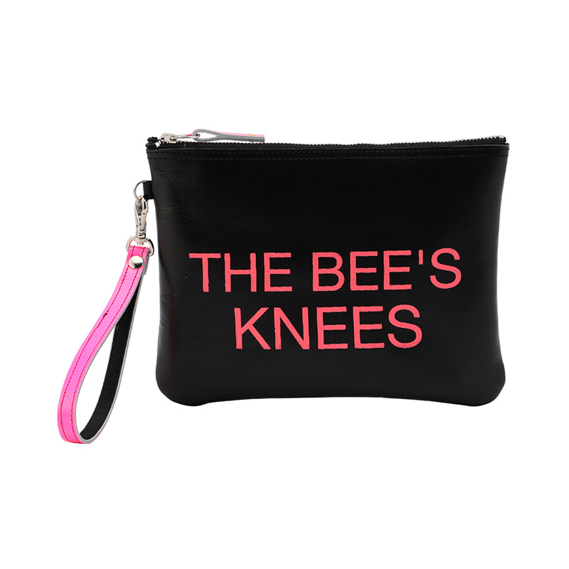 COXCOMB SQUARE POUCH NEON PINK_THE BEE'S KNEE'S