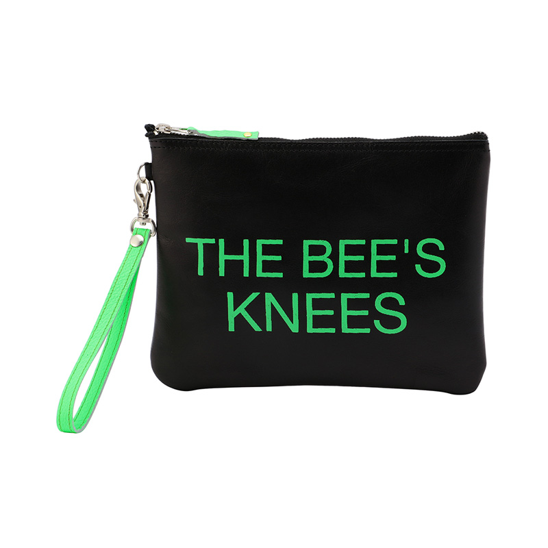 COXCOMB SQUARE POUCH NEON GREEN_THE BEE'S KNEE'S