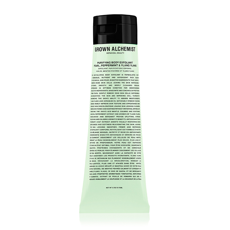 GROWN ALCHEMIST PURIFYING BODYSCRAB PEARL PEPPERMINT&YLANYLAN 170ML
