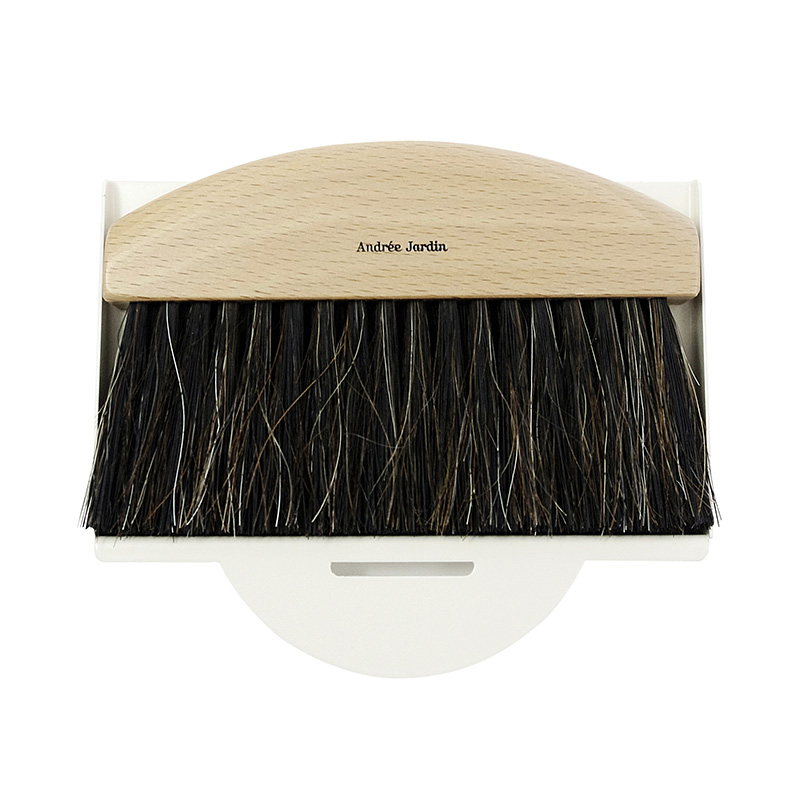 AJ/GIFTBOX TABLE BRUSH&DUSTPAN WHITE